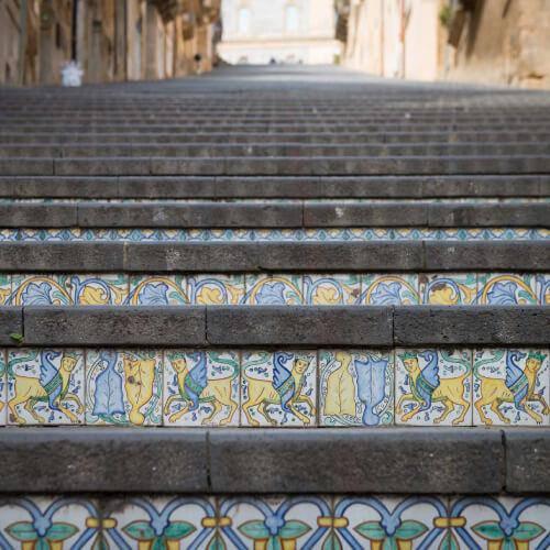 Scalinata con mosaici di Andreani Srl